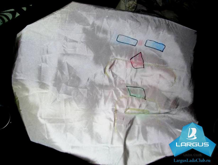 Подушка безопасности Лада Ларгус после фронтального Удара