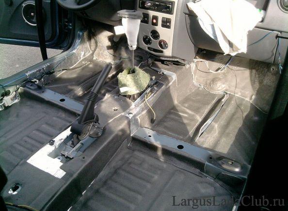 Шумоизоляция автомобиля лада ларгус своими руками